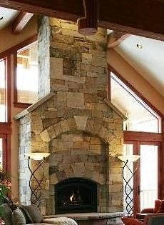 Monumental Stone Fireplace Images Big Bold Amp Beautiful