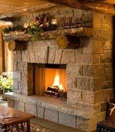 stone fireplace hearth