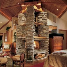 stone fireplaces pictures
