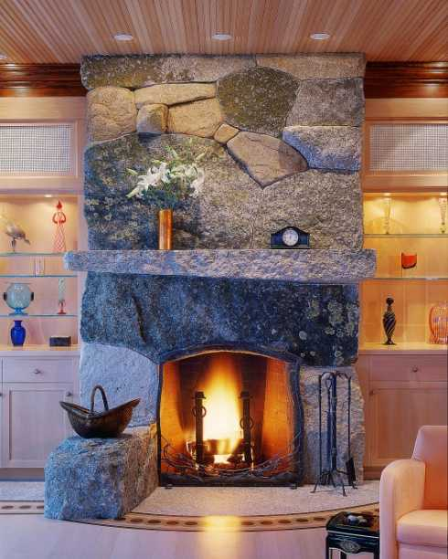The Stone Surround Fireplace With Built Ins Have It Your Way