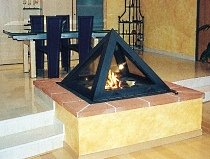 unique fireplace design